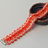 Pandahall Tutorial on Making a Beautiful Red Tube Bead and Seed Bead Bracelet