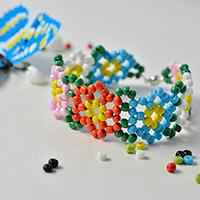 Pandahall Free Instructions on Making Candy Colored Seed Bead Flower Bracelet for Summer