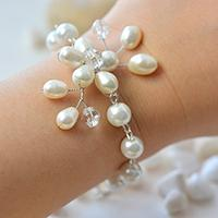 How to Make a Simple and Elegant Wire Wrapped Pearl Flower Bracelet