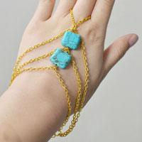 Pandahall Tutorial on How to Make a Chain Bracelet with Turquoise Beads