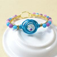 Pandahall Tutorial on How to Make a Wire Wrapped Beading Bangle Bracelet