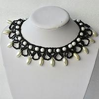 Pandahall Original Project on How to Make Delicate Choker Necklace with Pearl and Seed Beads