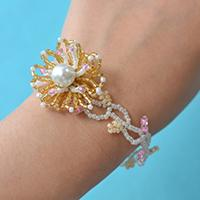 Pandahall Tutorial on How to Make Seed Bead Flower Bracelet