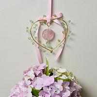 How to Make Easy Heart Wire Wrapped Hanging Décor Ornaments with Beads Decorated