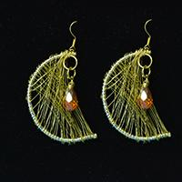 How to Make Easy Copper Wire Wrapped Moon Earrings for Girls