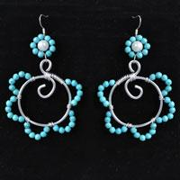Easy Tutorial on How to Make Wire Wrapped Flower Beads Earrings
