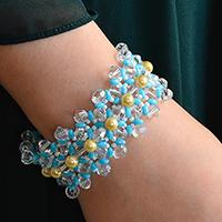 Pandahall Tutorial on How to Make Fresh 2-Hole Seed Beads Bracelet for Summer