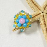Pandahall Tutorial on How to Make a Handmade Beaded Flower Ring for Summer