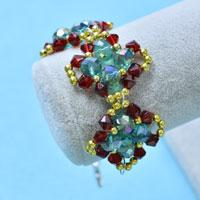 Free Instructions on How to Make Chic Glass Beads Chain Bracelet for Girls