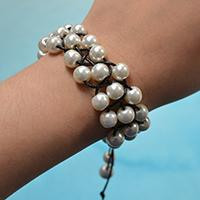 Pandahall Tutorial on How to Make a Black Leather Cord Braided and White Pearl Bracelet