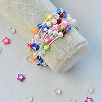 Free Instructions on Making the American Independence Day Themed Patriotic Multi-Layer Bracelet