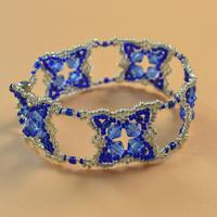 Pandahall Tutorial - How to Make a Blue Glass and Seed Bead Bracelet
