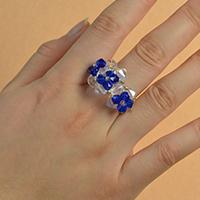 Easy Jewelry Making Ideas on How to Make Fresh Glass Bead Ring for Girls
