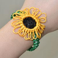 Pandahall Free Instructions on Making Charming Nylon Thread Braided Sunflower Bracelet