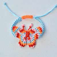 How to Make Colorful Butterfly Friendship Bracelet with Acrylic Beads for Girls