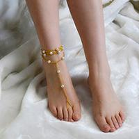 Easy Tutorial on How to Make Gold Anklet with Beads for Girls