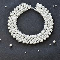 Pearl Jewelry Design - How to Make a Handmade White Pearl Bead Statement Necklace