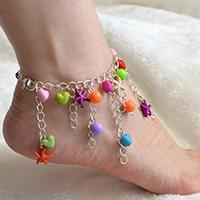 Pandahall Original Project--How to Make Easy Tassel Chain Anklet with Colorful Beads