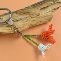 How to Make Flower Key Chain with Seed Beads and Pearl Beads