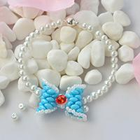 How to Make Chic 2-Hole Seed Beads Bow Bracelet with Pearl and Glass Beads
