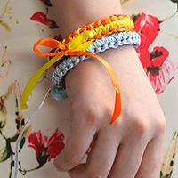 Free Instruction on How to Make Braided Ribbon Bracelets