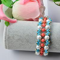 How to Make Chic Pearl Beaded Bracelet with 2-Hole Seed Beads
