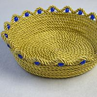 How to Make an Easy Metallic Gold Rope Coiled Basket for Daily Use