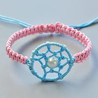 How to Make Simple Friendship Bracelet Decorated with Dream Catcher for Girls