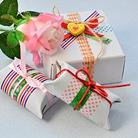 How to Make Easy Washi Tape Gift Boxes with Recycled Paper Rolls at Home