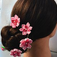 How to Make Pink Flower Hair Comb for Wedding