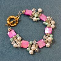 How to Make Pink Beading Bracelets with Pearl and Glass Beads for Girls