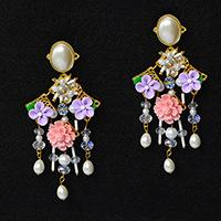 How to Make a Pair of Stunning Flower Bead Stud Earrings for Girls