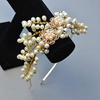 PandaHall Original DIY - How to Make a Wedding Headband with Pearl Beads and Rhinestones