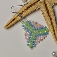 Pandahall Tutorial on How to Make Stitch Beading Triangle Earrings with Seed Beads