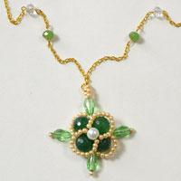 Pandahall Tutorial on How to Make Glass Beaded Flower Necklace
