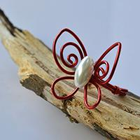 Wire Jewelry DIY - How to Make a Red Handmade Wire Wrapped Butterfly Ring