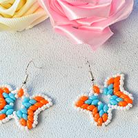 Pandahall Tutorial - How to Make a Pair of 2-Hole Seed Bead Butterfly Earrings
