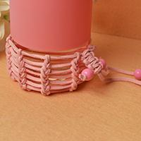 How to Make a Braided Cup Cover with Wool Cord and Acrylic Beads
