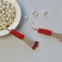 How to Make Chic Handmade Chandelier Earrings with Colorful Seed Beads