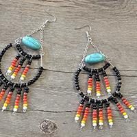 How to Make a Pair of Stylish Black Seed Bead Hoop Earrings