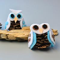 Pandahall Tutorial on How to Make Simple Felt Owl with Pine Cone for Kids
