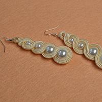 How to Make Simple Pearl Beads Earrings Decorated with Nylon Thread for Women