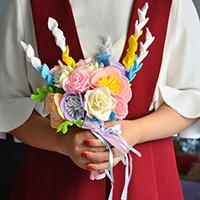 Pandahall Original DIY - How to Make a Colorful Felt and Ribbon Wedding Bridal Flower Bouquet