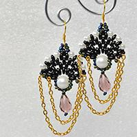 Tutorial on How to Make a Pair of Handmade Dangle Seed Beaded Earrings with Chain