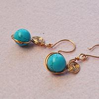 How to Make Stylish Wire Wrapped Dangle Earrings with Turquoise Beads