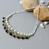 Pandahall Tutorial on How to Make Handmade White and Black Pearl Necklace