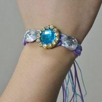 How to Make Braided Bracelet with Nylon Thread and Rhinestone Beads