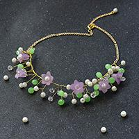 Pandahall Tutorial on How to Make a Fresh Wire Wrapped Beaded Flower Necklace