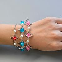 Pandahall Original DIY - How to Make Pink, Blue, Red Glass Bead and Pearl Bead Chain Bracelets
