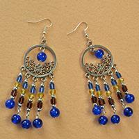 Pandahall Tutorial on How to Make Tibetan Style Drop Chandelier Earrings with Beaded Tassel Dangles